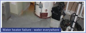 Water heater failure - water everywhere